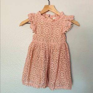 Like New Adorable Girls Pink Lace Dress